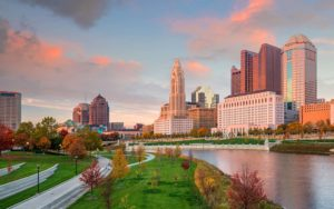 Homepage - Downtown Columbus Ohio Skyline at Sunset